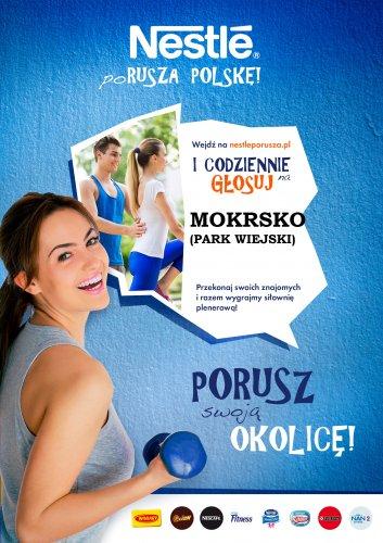 Głosowanie na siłownię plenerową wMokrsku