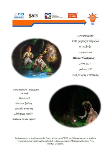 Zaproszenie na Wieczór Świętojański wMokrsku