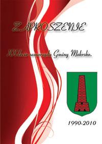 Zaproszenie na 20-lecie samorządu Gminy Mokrsko