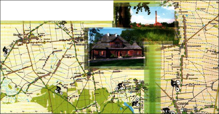 Bicycle route EWI 4; EWI 1